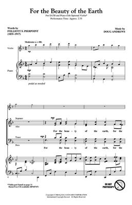 Doug Andrews: For the Beauty of the Earth: SATB