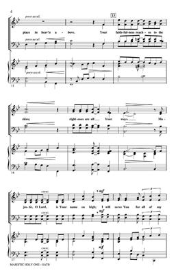 Cindy Berry: Majestic Holy One: SATB