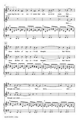 Will Schmid: Slow Down: Mixed Choir