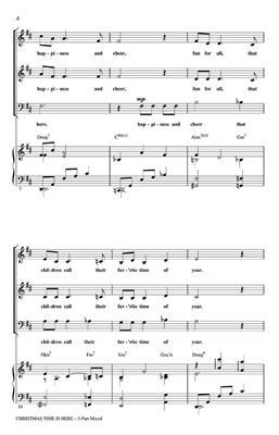 Lee Mendelson: Christmas Time Is Here: Arr. (Ed Lojeski): 3-Part Choir