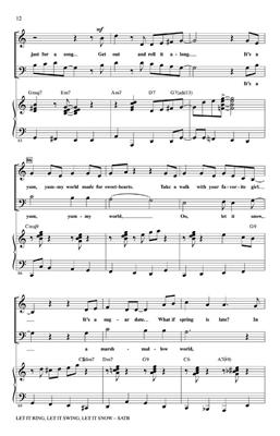 Let It Ring, Let It Swing, Let It Snow: Arr. (Mac Huff): SATB