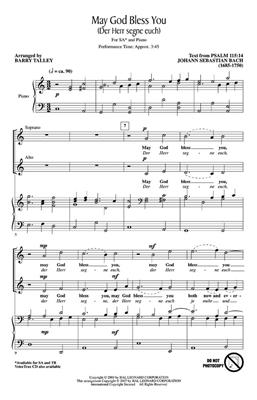 Johann Sebastian Bach: May God bless you: Arr. (Barry Talley): 2-Part Choir