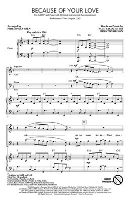 Brenton Brown: Because of Your Love: Arr. (Phillip Keveren): SATB