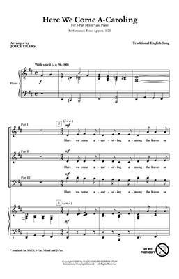 Here We Come A-Caroling: Arr. (Joyce Eilers): 3-Part Choir