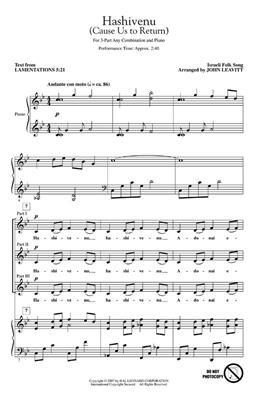 Hashivenu Cause Us to Return: Arr. (John Leavitt): 3-Part Choir
