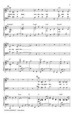 Saying Goodbye: Arr. (Cristi Cary Miller): 3-Part Choir