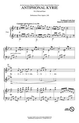 John Leavitt: Antiphonal Kyrie: 2-Part Choir