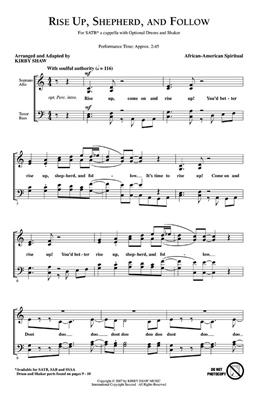 Rise Up Sheperd and Follow: Arr. (Kirby Shaw): SATB