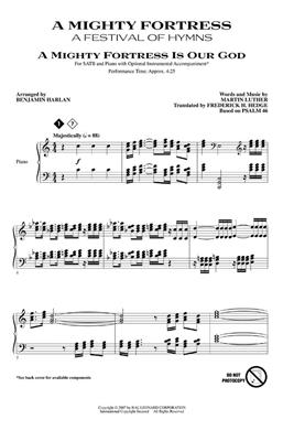A Mighty Fortress - A Festival of Hymns: Arr. (Benjamin Harlan): SATB