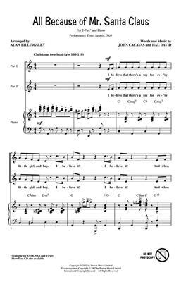 All Because of Mr. Santa Claus: Arr. (Alan Billingsley): 2-Part Choir