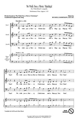 Russell L. Robinson: We Wish You a Merry Madrigal: 3-Part Choir