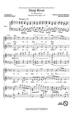 Deep River: Arr. (Michael Braz): 2-Part Choir