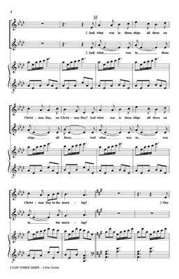 I Saw Three Ships: Arr. (Michael Braz): 3-Part Choir