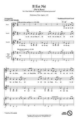 Hal Leonard: Il Est Ne