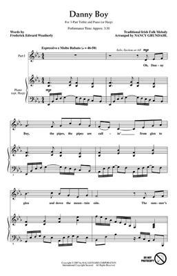 Traditional: Danny Boy: Arr. (Nancy Grundahl): 3-Part Choir