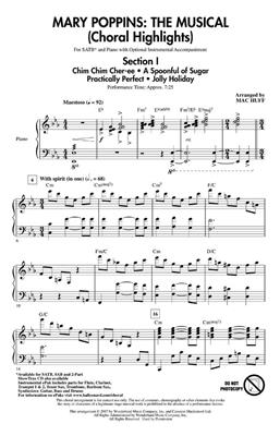 Mary Poppins : The Musical: Arr. (Mac Huff): SATB