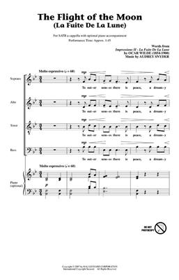 Audrey Snyder: The Flight of the Moon: SATB