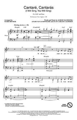 Albert Hammond: Cantare, Cantaras: Arr. (Mark Brymer): SAB