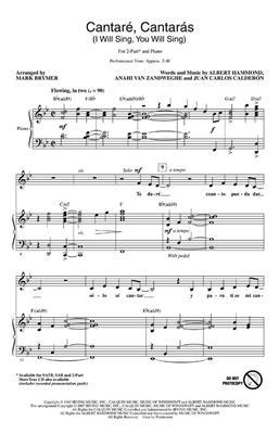 Albert Hammond: Cantare, Cantaras: Arr. (Mark Brymer): 2-Part Choir
