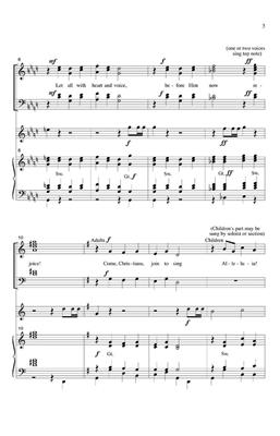 Come, Christians, Join To Sing: Arr. (Bruce Wilkin): Mixed Choir