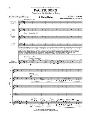 David Fanshawe: Pacific Song: Double Choir