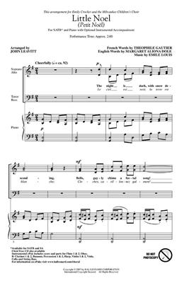 Little Noel Petit Noël: Arr. (John Leavitt)