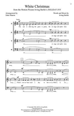 Irving Berlin: White Christmas: Arr. (Deke Sharon): SATB