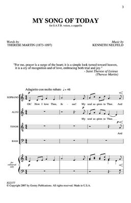 Kenneth Neufeld: My Song Of Today: Mixed Choir