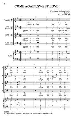 John Dowland: Come Again, Sweet Love: Mixed Choir