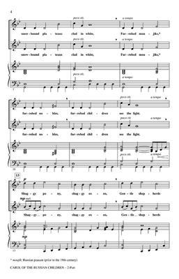 Carol of the Russian Children: Arr. (Audrey Snyder): 2-Part Choir