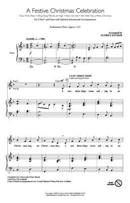 A Festive Christmas Celebration: Arr. (Audrey Snyder): 2-Part Choir