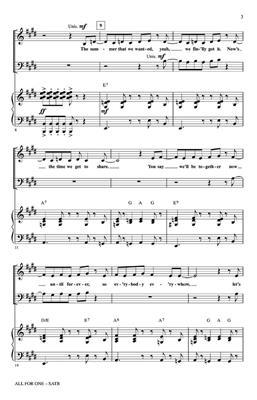 All For One: Arr. (Mark Brymer): Mixed Choir