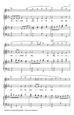 Patrick M. Liebergen: Alleluia Canon of Thanks: 2-Part Choir