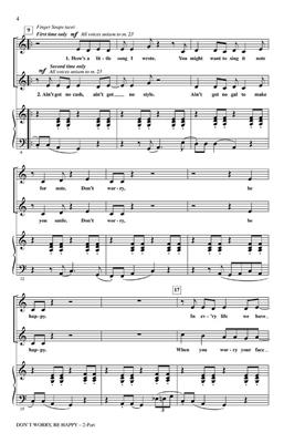 Bobby McFerrin: Don't worry be happy: Arr. (Audrey Snyder): 2-Part Choir