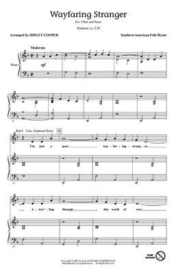 Wayfaring Stranger: Arr. (Shelly Cooper): 2-Part Choir