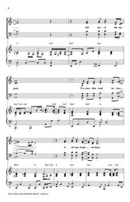 John Lennon: The Long And Winding Road: Arr. (Paul Langford): SATB