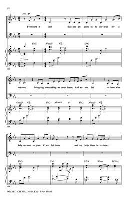 Stephen Schwartz: Wicked: Arr. (Mac Huff): 3-Part Choir