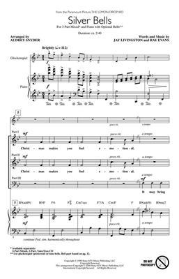 Bing Crosby: Silver Bells: Arr. (Audrey Snyder): 3-Part Choir