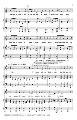 Celebrate Christmas With O Come, All Ye Faithful: Arr. (Tom Fettke): SATB