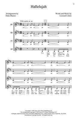Leonard Cohen: Hallelujah: Arr. (Deke Sharon): SSAA