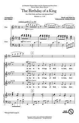 William Henry Neidlinger: The Birthday of a King: Arr. (Ken Berg): 3-Part Choir