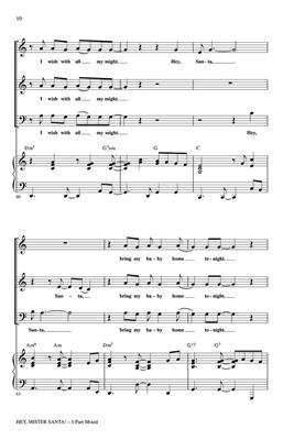 Hey, Mister Santa!: Arr. (Mac Huff): 3-Part Choir