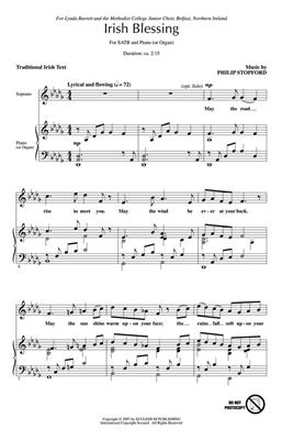 Philip W. J. Stopford: Irish Blessing: SATB