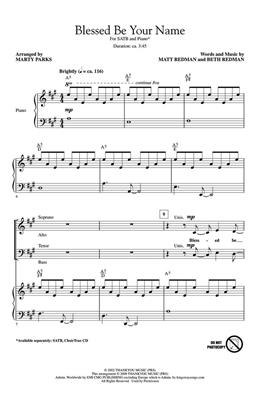 Blessed Be Your Name (SATB): Arr. (Marty Parks): Mixed Choir