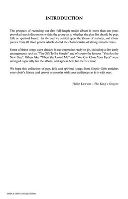 The King's Singers: Simple Gifts: Arr. (Bob Chilcott): SATB