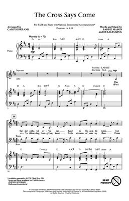 Babbie Mason: The Cross Says Come: Arr. (Camp Kirkland): SATB