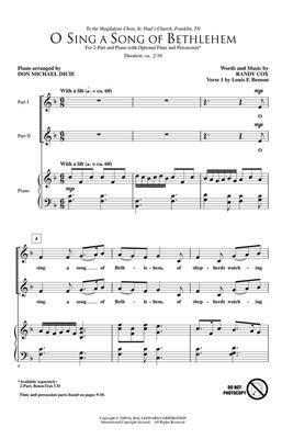 Randy Cox: O Sing a Song of Bethlehem: 2-Part Choir