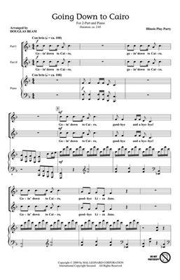 Going Down to Cairo: Arr. (Douglas Beam): 2-Part Choir