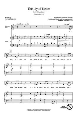 Nanci Milam: The Lily of Easter: SATB