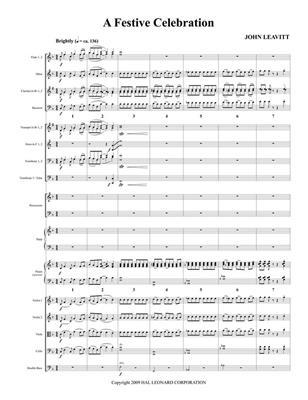 John Leavitt: A Festive Celebration: Orchestra